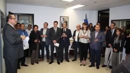 Con la presencia del Embajador de El salvador en Canadá, Oscar Duarte, y del Cónsul en Toronto, Oscar Toledo, los empresarios salvadoreños brindaron una degustación de los productos en el Consulado de El Salvador en Toronto