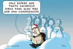 Caricatura publicada en un medio de prensa salvadoreño