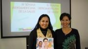 Amanda Hernández y Luz Dary Madronero, del Consulado de Colombia en Toronto