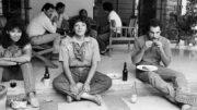 Periodista Any Cabrera, al centro, en esta fotografía cortesía de Alberto Barrera, tomada en los años 80